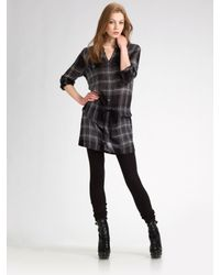 Burberry Brit | Gray Check Shirt Dress | Lyst