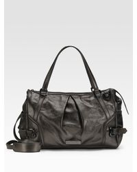 Burberry | Black Metallic Leather Diaper Bag | Lyst