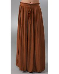 Charlotte Ronson | Brown Pleated Long Skirt | Lyst