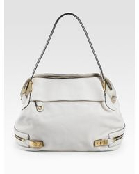 Chloé | White Cary Large Leather Shoulder Bag | Lyst