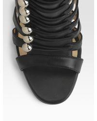 Christian Louboutin | Black Denis Multistrap Sandals | Lyst