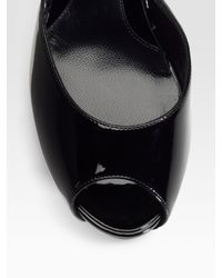 Fendi - Black Ff Superstar Patent Leather Slides - Lyst
