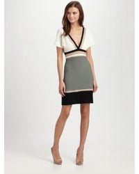 M Missoni | Black V-neck Colorblock Dress | Lyst