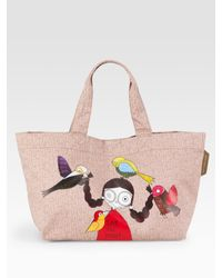 Marc By Marc Jacobs | Pink Miss Marc Save The Birds Cotton Tote | Lyst