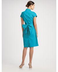 Max Mara - Blue Senape Wrap Dress - Lyst