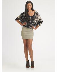 Pleasure Doing Business | Gray Banded Mini Skirt | Lyst