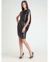 Ports 1961 | Black Asymmetric Satin Dress | Lyst
