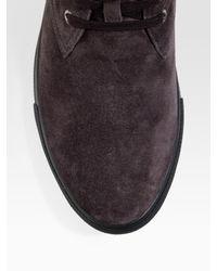 Prada | Purple Desert Boots for Men | Lyst