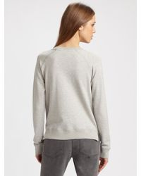 Stella McCartney - Gray Horse Print Sweatshirt - Lyst