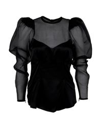 Thomas Wylde | Black Surrender Chiffon Blouse | Lyst