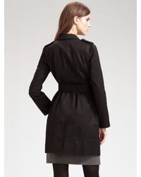 Tory Burch - Black Trench Coat - Lyst