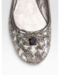 Tory Burch - Woven Metallic Leather Ballet Flats - Lyst