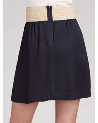 Twelfth Street Cynthia Vincent | Blue Belted Skirt | Lyst