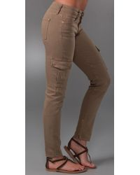Vince - Green Ankle Cargo Skinny Jeans - Lyst