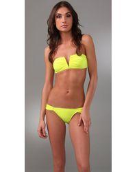 Mara Hoffman | Yellow V Wire Bikini | Lyst