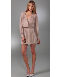Parker - Pink Wrap Dress - Lyst