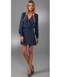 Parker - Blue Wrap Dress - Lyst