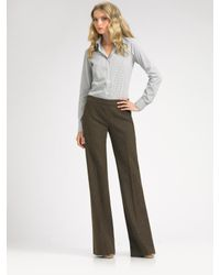 Theory - Green Tensley Donegal Tweed Pants - Lyst