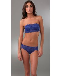 Cosabella | Blue Never Say Never Flirtie Bandeau Bra Never1102 | Lyst