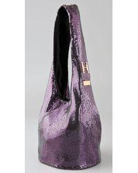 Halston - Purple Cleo Small Sac Bag - Lyst