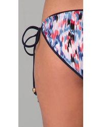 MILLY | Multicolor Brushstroke Bikini Bottom | Lyst