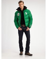 Polo Ralph Lauren | Green Active Down Jacket/italy for Men | Lyst