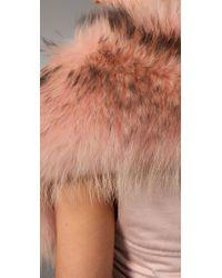 Alice + Olivia - Natural Fur Bolero - Lyst