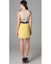 Sachin & Babi - Natural Sleeveless Dress with Metal Embellishments - Lyst