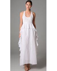Sachin & Babi   White Embroidery Ruffle Long Dress   Lyst