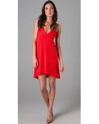 Alice + Olivia | Red Demi Drape Back Flutter Dress | Lyst