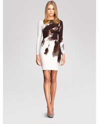 Gucci | White Side Drape Dress | Lyst