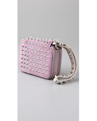 3.1 Phillip Lim - Purple Berry Wristlet with Studs - Lyst
