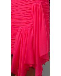 BCBGMAXAZRIA - Red Bcbgmaxazria Runway Banded Mesh Dress - Lyst