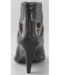 Belle By Sigerson Morrison - Black Open Toe Cutout Booties - Lyst