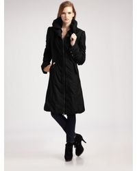 Creenstone | Black Pillow Collar Parka | Lyst