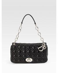 Dior - Black Rendez-vous Medium Flap Bag - Lyst