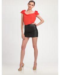 Leifsdottir | Black Leather Mini Skirt | Lyst