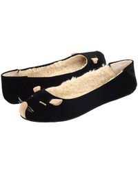 Marc By Marc Jacobs - Black Velvet Mouse Slippers - Lyst