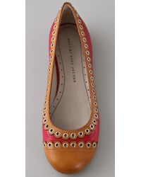 Marc By Marc Jacobs | Red Scalloped Cap Toe Flats | Lyst
