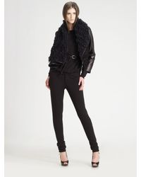 Ports 1961 - Black Cropped Leather Jacket - Lyst