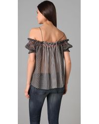 Rozae | Gray Off Shoulder Top | Lyst