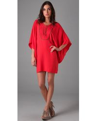 Twelfth Street Cynthia Vincent | Red Bibbed Tunic Dress | Lyst