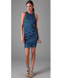 A.L.C. | Blue Striped Athletic Twisty Dress | Lyst