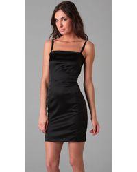 Dolce & Gabbana   Black Mini Bustier Cami Dress with Adjustable Straps   Lyst