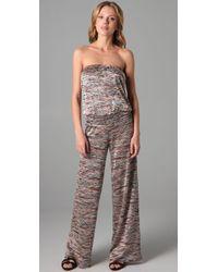 Karina Grimaldi | Natural Knit Strapless Jumpsuit | Lyst