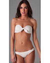 L*Space - White Sunkissed Bandeau Bikini Top - Lyst
