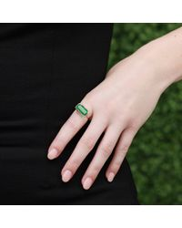 Lucifer Vir Honestus | Green Emerald Microbo Ring | Lyst
