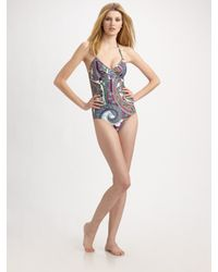 Etro | White Paisley-print One-piece Swimsuit | Lyst