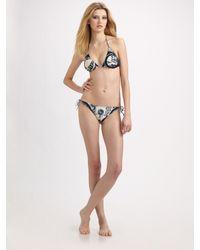 Jean Paul Gaultier | Blue Two-piece Tattoo-print Bikini | Lyst
