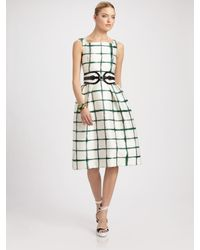 Oscar de la Renta | White Shibori Dyed Tulip Dress | Lyst